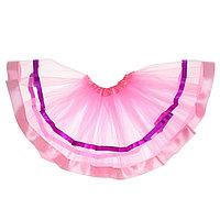 Карнавальная юбка 'Красотка', трёхслойная, цвет розовый