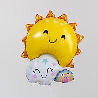 Шар фольгированный 30' 'Солнечный', фигура (комплект из 5 шт.)
