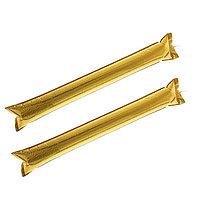 Палка 'Болельщик', с палочкой для надувания, набор 2 шт., цвет золотой