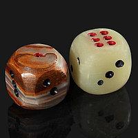 Кубик игральный, 2,5 см, оникс (комплект из 5 шт.)