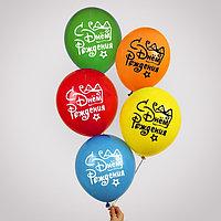 Воздушный шар 12' 'С днем рождения', подарок с бантом, 1 ст., набор 5 шт. МИКС