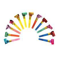 Карнавальный язычок, набор 12 шт., цвета МИКС
