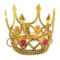 Корона 'Принцессы', на веревочке, золото (комплект из 12 шт.)