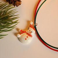 Кулон детский новогодний 'Снеговик', цветной