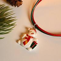 Кулон детский новогодний 'Выбражулька' снеговичок, цветной