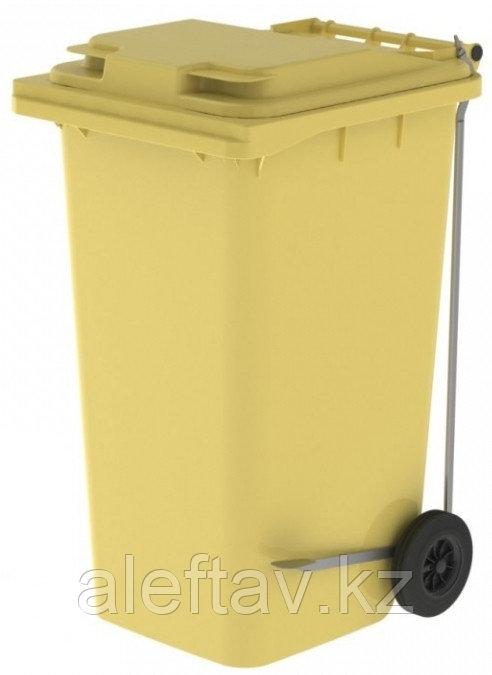 Передвижной мусорный контейнер с крышкой 240 литров