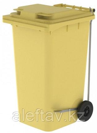 Передвижной мусорный контейнер с крышкой 240 литров, фото 2