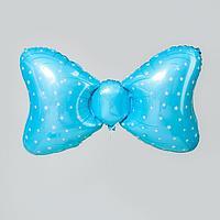 Шар фольгированный 36' 'Бант голубой' (комплект из 5 шт.)