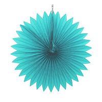 Декор из бумаги 'Круг', 25 см, цвет голубой