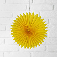 Изделие из бумаги декор 'Круг', 25 см, цвет жёлтый