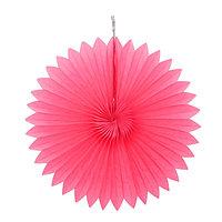 Изделие из бумаги декор 'Круг', 25 см, цвет фуксия