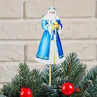 Топпер деревянный, 6.5x30 см 'Новогодний. Дед Мороз', УФ-печать