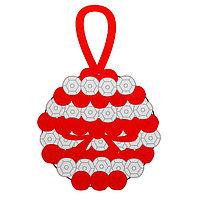 Набор для творчества - создай ёлочное украшение 'Шар с пайетками', цвет красно-серебряный