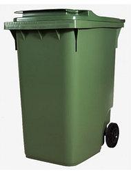 Передвижной мусорный контейнер с крышкой 360  литров диаметром колес 200 мм на двух колесах
