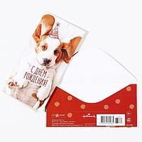 Конверт для денег 'С Днём Рождения!' щеночек (комплект из 5 шт.)