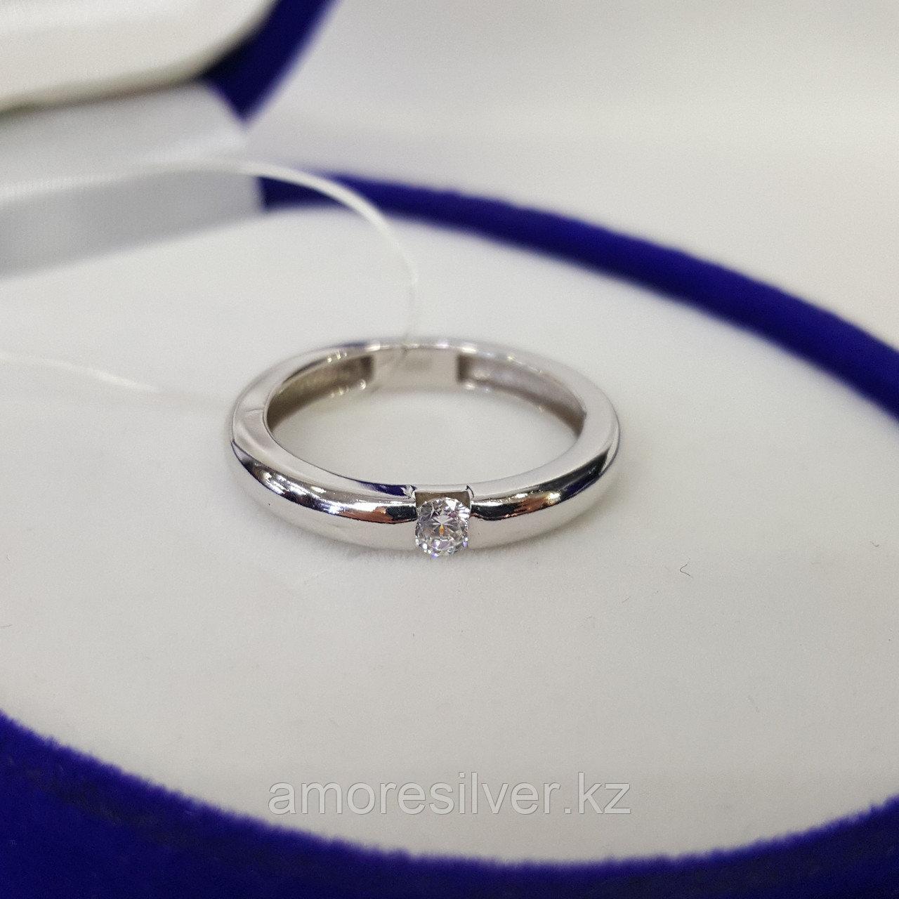 Кольцо SOKOLOV серебро с родием, фианит 94011254 размеры - 15 15,5 16 16,5 17 17,5 - фото 6
