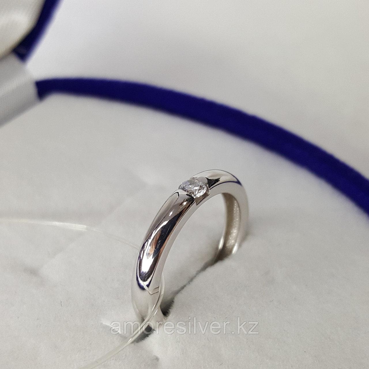 Кольцо SOKOLOV серебро с родием, фианит 94011254 размеры - 15 15,5 16 16,5 17 17,5 - фото 7