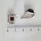 Серьги Darvin серебро с родием, квадрат 929041002aa, фото 4