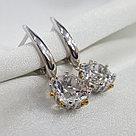 Серьги SOKOLOV серебро с родием, горный хрусталь 92021898, фото 5