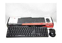 CROWN Клавиатура и мышь USB CROWN CMMK-520B Черный Проводное RU/EN мультимедийная Нарушена упаковка