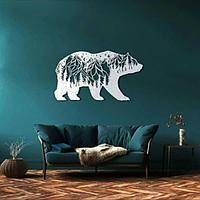 Декоративная абстракция медведь 65/70