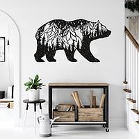 Декоративная абстракция медведь 85/90