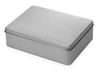 Коробка прямоугольная, серебристый