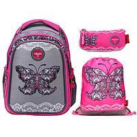 Рюкзак школьный, Across, CH410, 39 х 29 х 17 см, эргономичная спинка, с наполнением мешок для обуви, пенал,