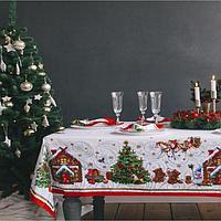 Набор столовый 'Новогодняя сказка' скат.150х110см +/-3см с ГМВО, салф.40х40см-4 шт, хл100