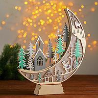 Новогодний декор с подсветкой 'Огромный месяц' 2 круглые, 4х25х31 см