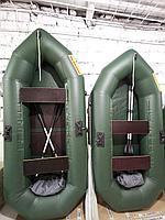 Лодка надувная ПВХ гребная Поплавок одноместная 190см