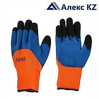 Перчатки обливная ладонь из латекса синтетика класс №8 #300 синие