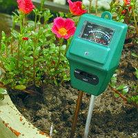 РН-метр измеритель кислотности, влажности и освещенности почвы , 3 в 1