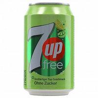 Газированный напиток 7UP Free БЕЗ САХАРА 330 ml (24шт - упак)
