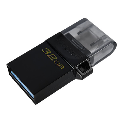 USB Флеш 128GB 3.0 Kingston OTG DTDUO3G2/128GB черный