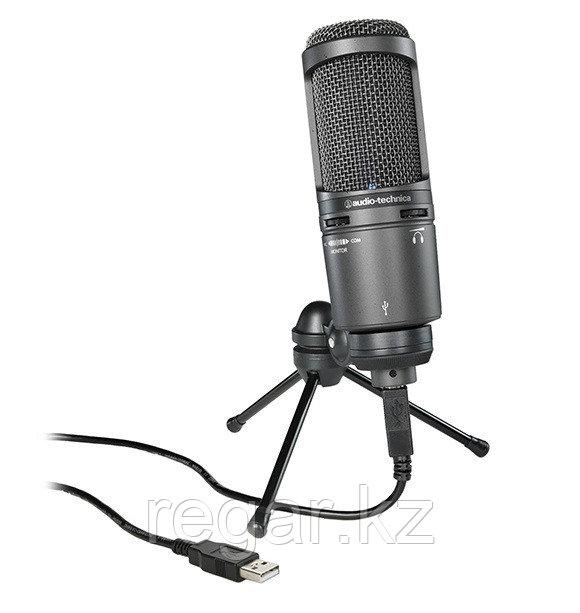 Студийный микрофон Audio-Technica AT2020USB+ черный