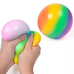 Антистресс мячик (разноцветные однотонные и радужные)