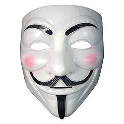 """Маска Анонимуса Гай Фокс V -  Вендетта белая """"Противостояние"""""""