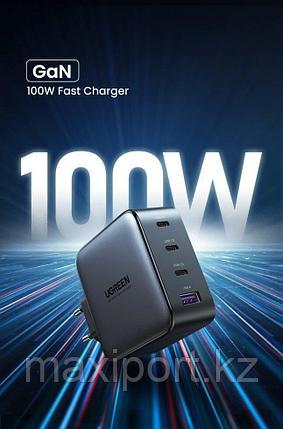 Зарядное устройство Ugreen GaNX 100w 3usb C + 1 USB, фото 2