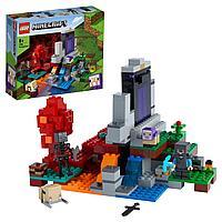 Конструктор LEGO Minecraft Разрушенный портал