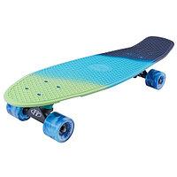 "Penny board (пенни борд) Tech Team Tricolor 27"" 2021 sea blue/blue"