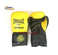 Боксерские перчатки EVERLAST Canelo кожа (цвет желтый) 12,14,16OZ
