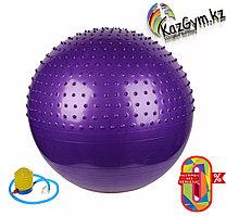 Фитбол, мяч для фитнеса c насосом (d=75см), комбинированный