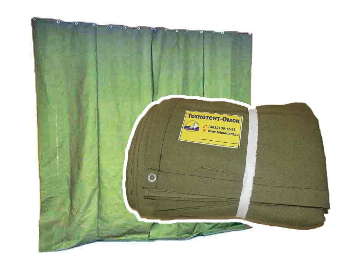 Штора/завеса из водоотталкивающего брезента для утепления проемов ворот гаража 3,4х6,9