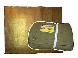 Штора/завеса из огнеупорного брезента для утепления проемов ворот гаража 3,4х6,9