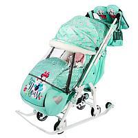 Санки коляска 'Disney-baby 2. Минни Маус', цвет мятный