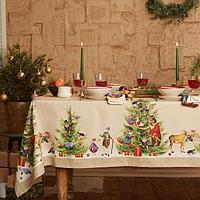 Набор столовый Этель 'Noble Christmas' скатерть 150х180 +/-2см с ГМВО, салфетки 40х40см-8шт