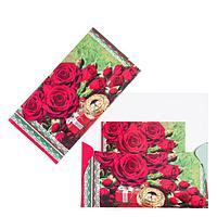 Конверт для денег 'Универсальный' красные розы (комплект из 10 шт.)