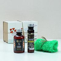 Подарочный набор на 14 февраля 'Сладкий поцелуй' гель для душа, мужской шампунь, мочалка