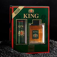 Подарочный набор для мужчин туалетная вода King, 100 мл + дезодорант, 150 мл